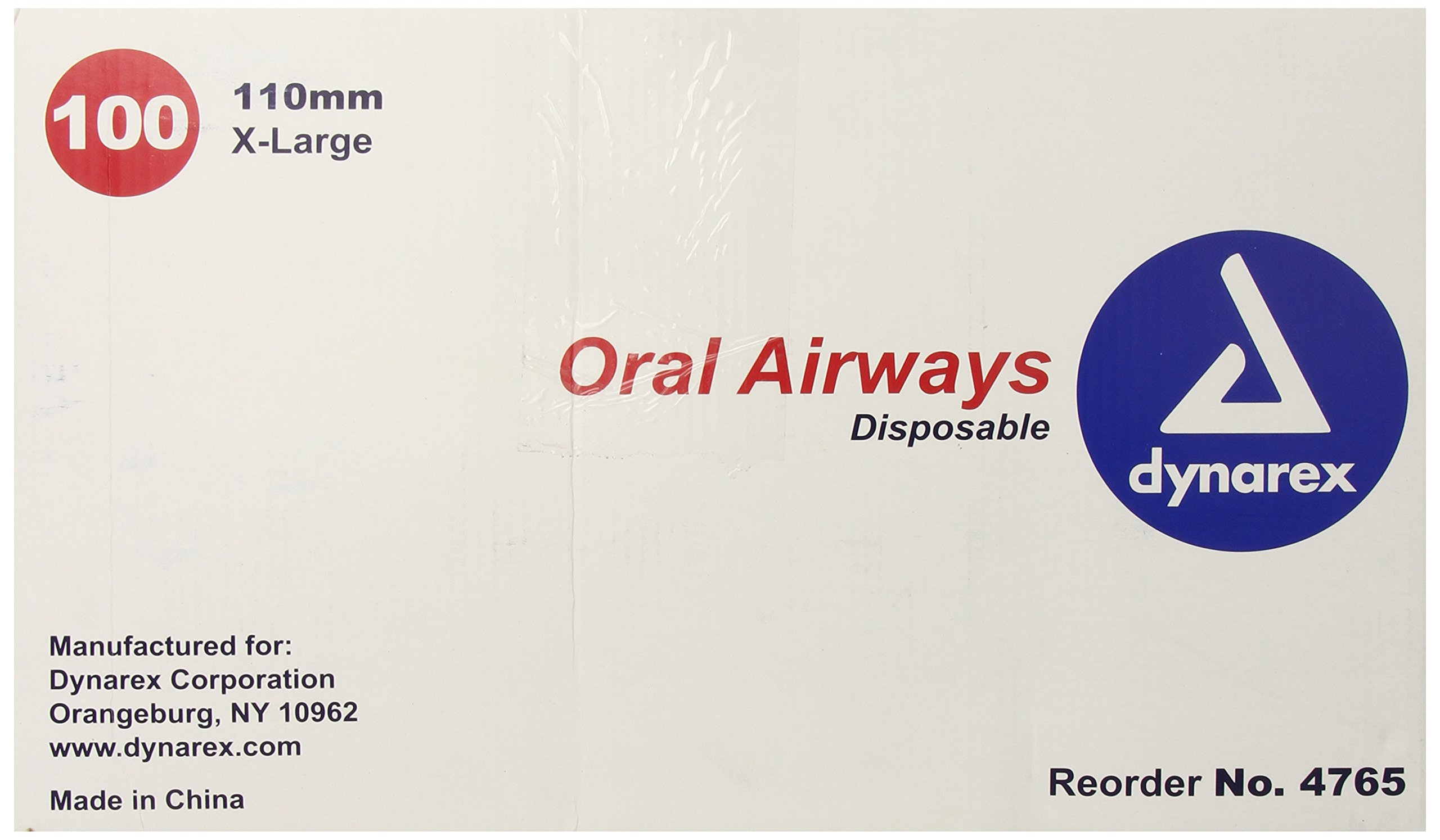 Dynarex Oral Airway, Extra Large, 110 mm Size, 100 Count