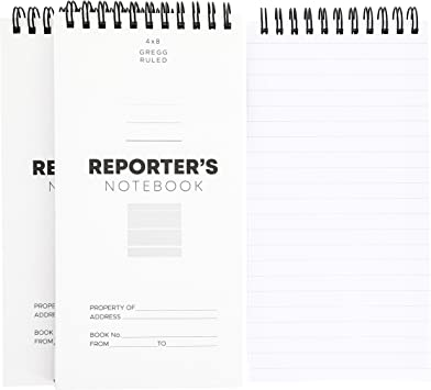 Notebook Spiral Pad Office School Book Reporter Line Notepad Writing Paper 8C