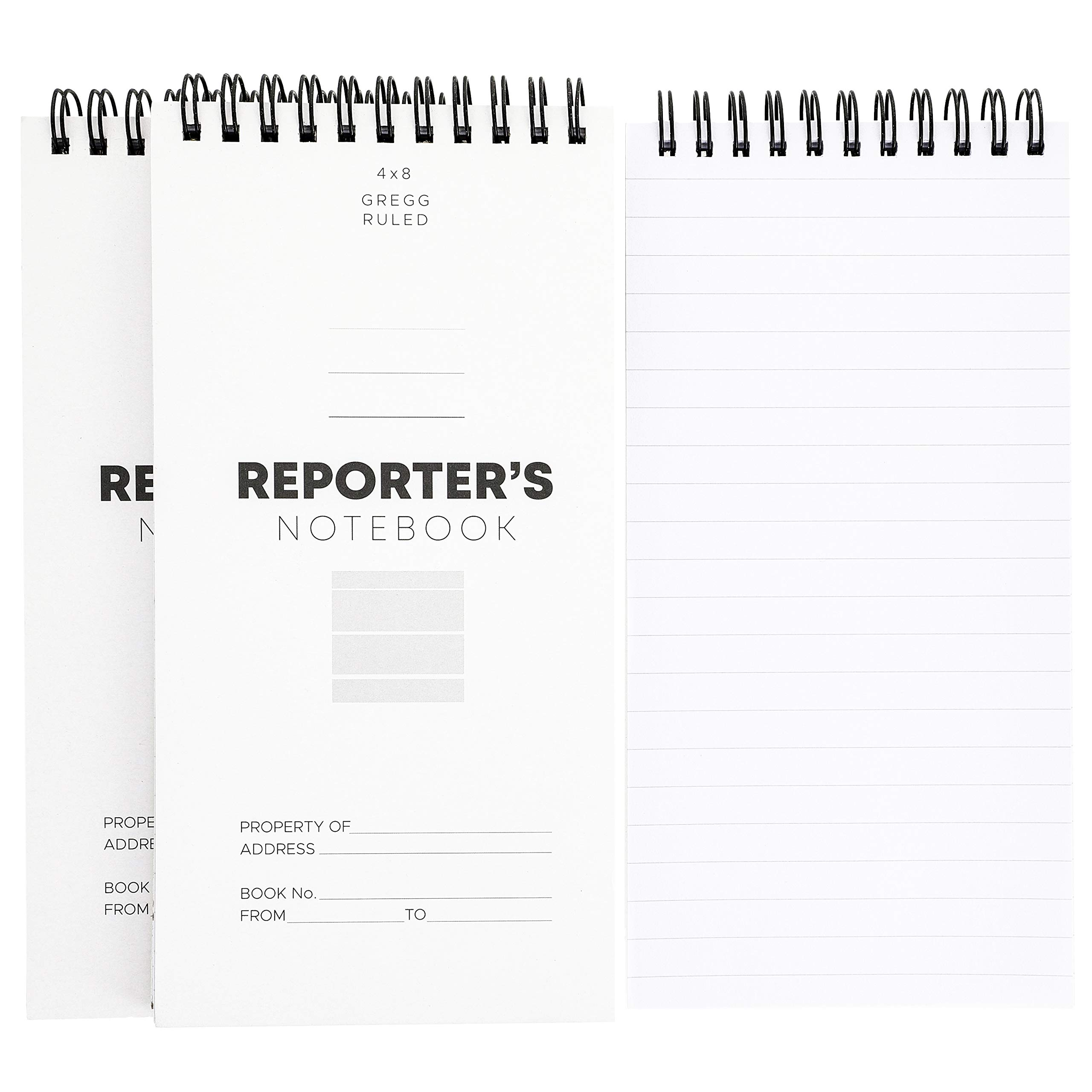 Juvale 12-Pack 8 x 4 Inch Reporters Pocket Spiral Memo Pad Notebook, 70 Sheets/140 Pages Per Book by Juvale