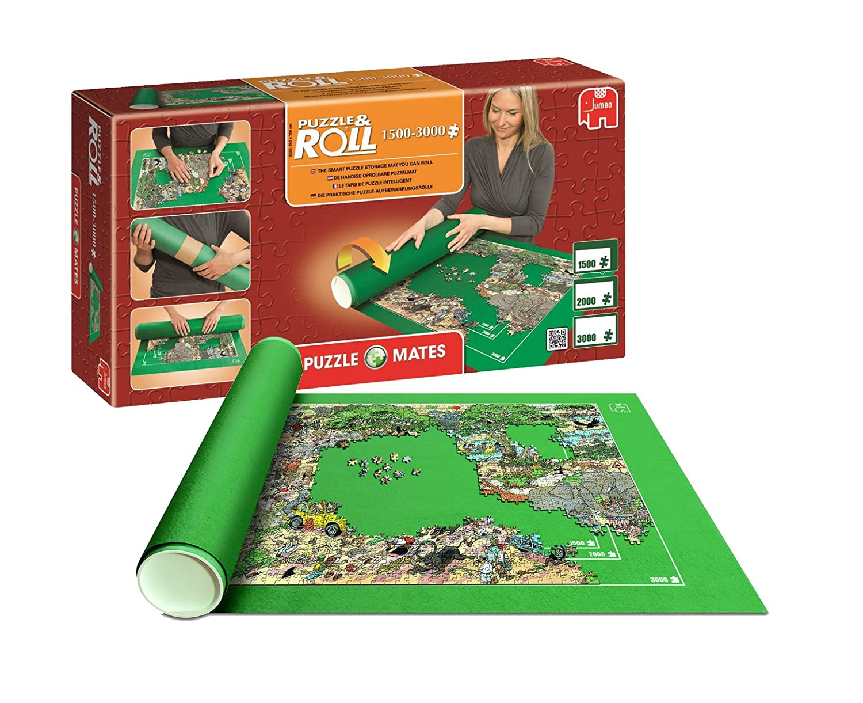 Outletdelocio. Puzzle Roll 3000 XXL. Tapete universal para transportar/guardar puzzles hasta 3000 piezas. Jumbo 17691: Amazon.es: Juguetes y juegos
