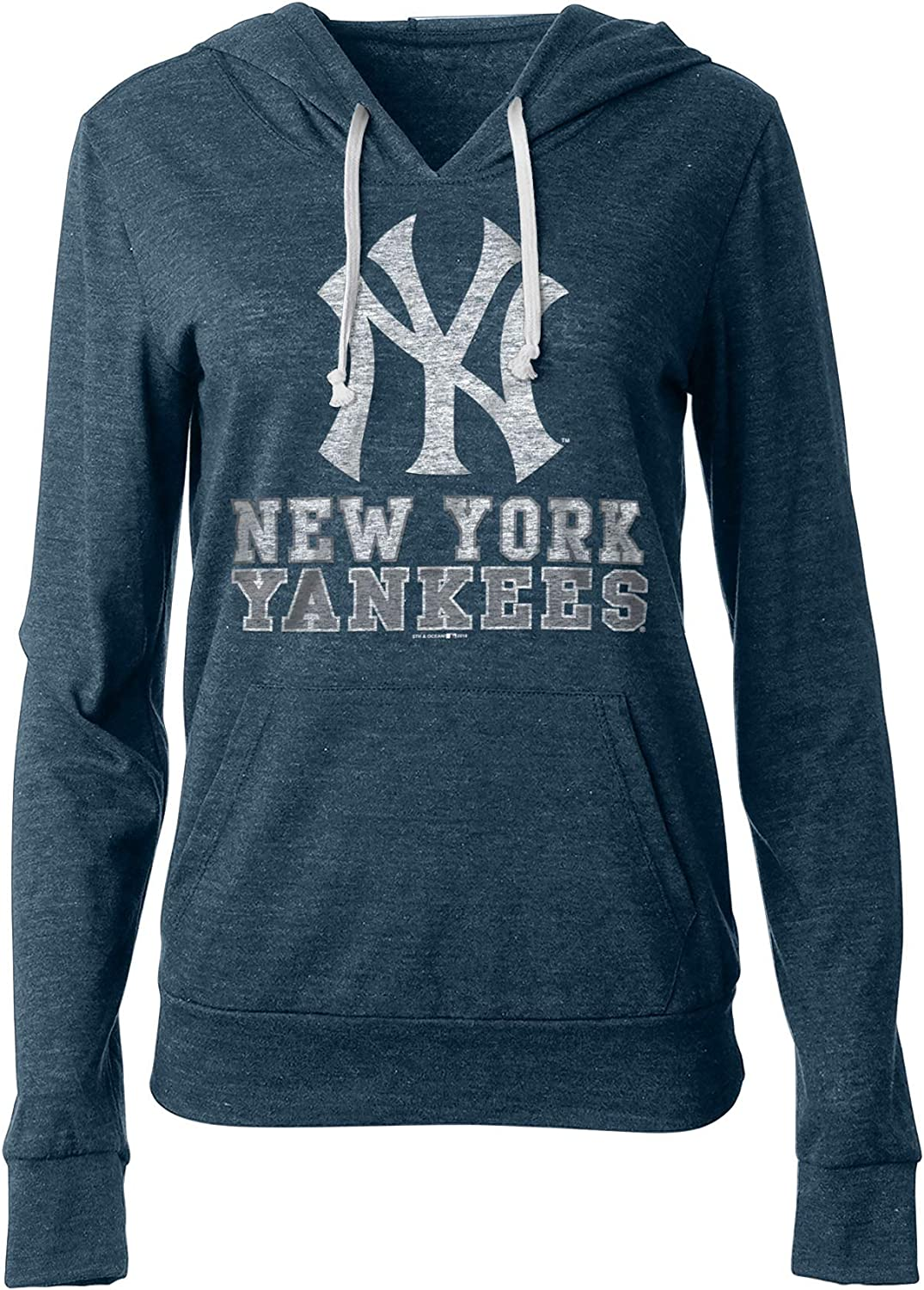 Navy 47 New York Yankees Mens Team Logo Headline Pullover Hoody Sweatshirt