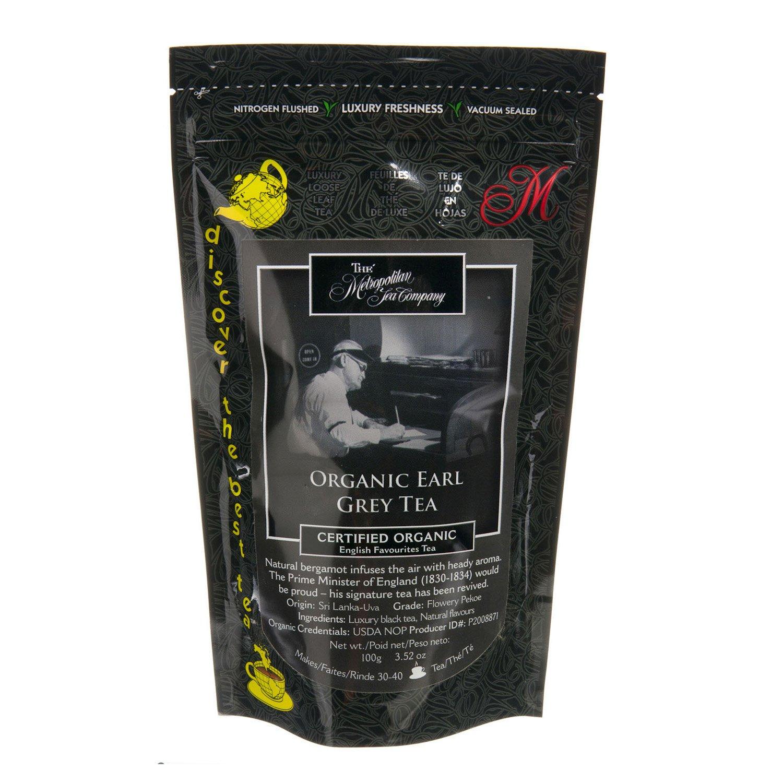 Metropolitan Tea Discovery Loose Tea Pack, Organic Earl Grey Organic, 100gm