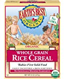 Earth's Best Organic, Whole Grain Rice Cereal, 8 Ounce (Pack of 12) - Packaging may vary