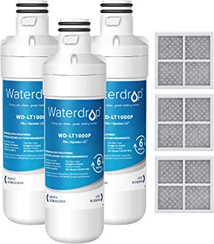 Waterdrop MDJ64844601 Refrigerator Water Filter ... Compatible with LG LT1000P