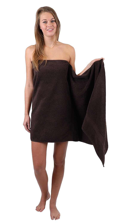 Betz Paquete de 2 toallas de sauna PREMIUM 100/% algod/ón 70x200 cm Color marr/ón oscuro