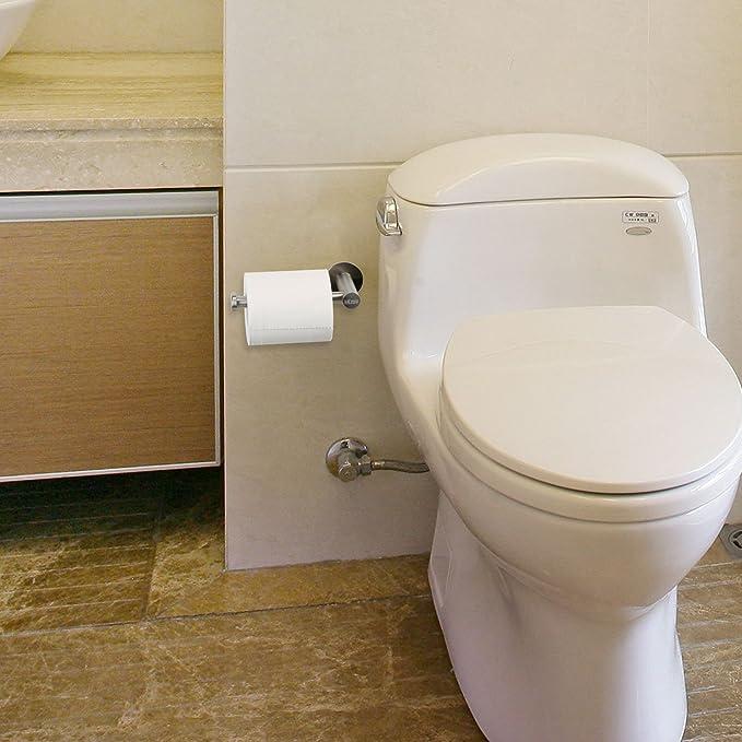 Portarrollos de MEZOOM de 304 acero inoxidable de 3m pegamento fuerte para colgar papel del higiene, toalla en baño o cocina o retaurante