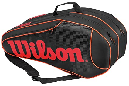 e3f8ac00c657 Amazon.com   Wilson Burn Team 6-Pack Black Tennis Bag   Sports ...