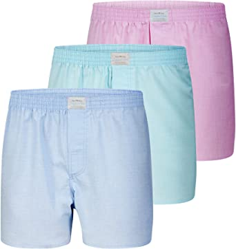 Lakeford & Sons Boxershorts 3-Pack Pastell, blau/mint/rosé (S