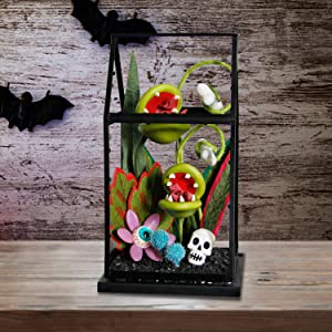 ATDAWN Halloween Table Decorations, Halloween Artificial Flower House Decor for Halloween Indoor Home Desktop Haunted House Decorations