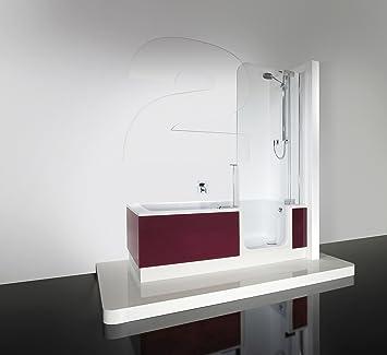 Artweger Twin Line 2 Ducha Bañera con einstieg 170 cm Mampara de plata mate con delantal Lag 3 Óxido: Amazon.es: Bricolaje y herramientas