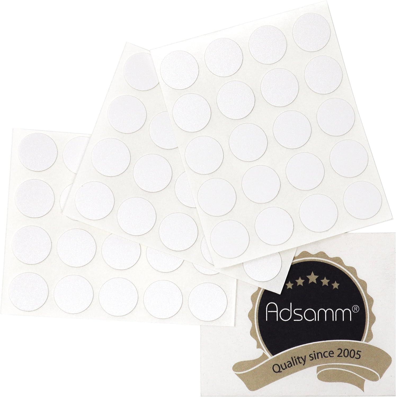 0,45 mm d/ünne Selbstklebende M/öbelpflaster rund 20 x Abdeckkappen /Ø 13 mm Adsamm/® Creme