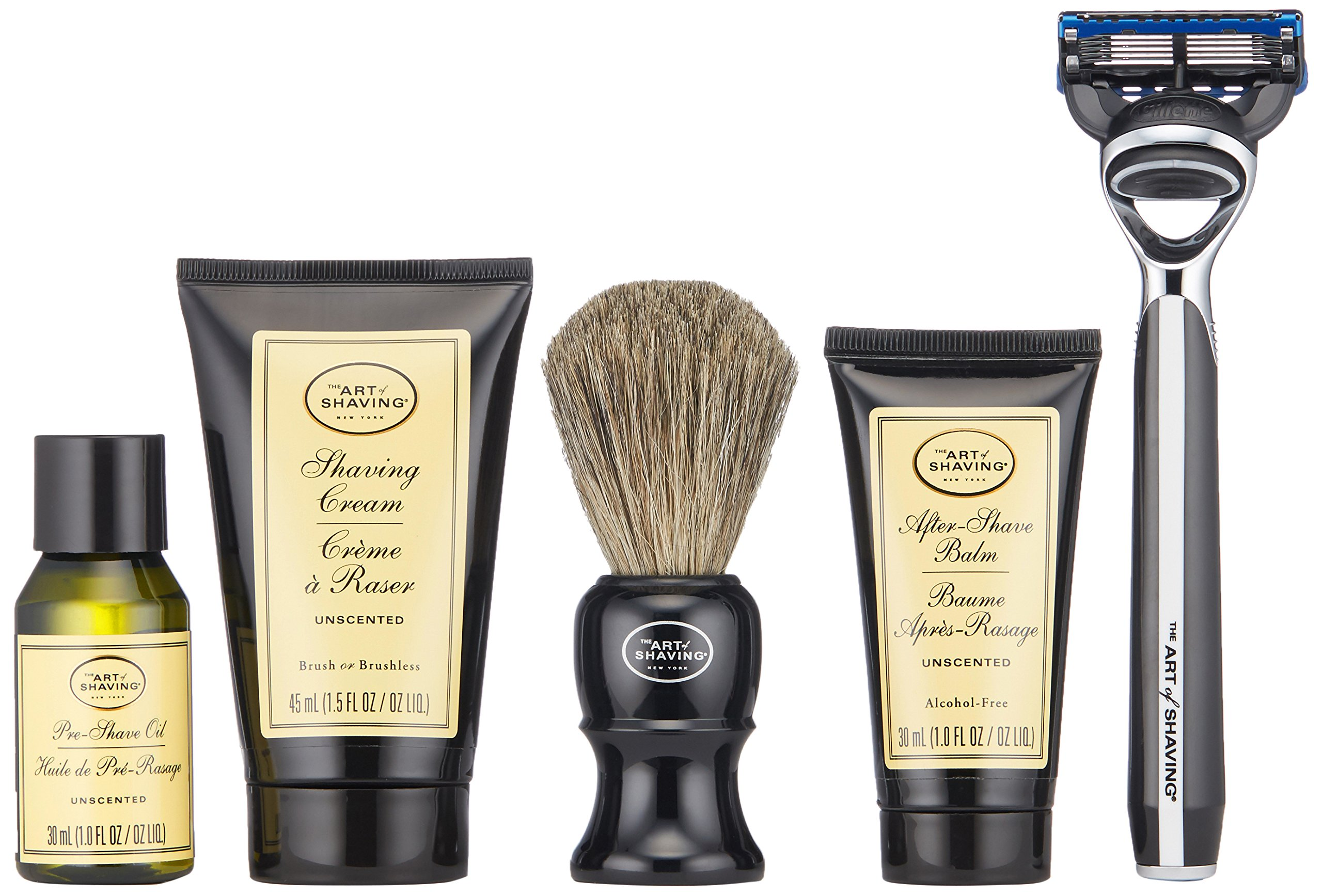 The Art of Shaving 5 Piece Travel Kit with Morris Park Razor, Unscented by The Art of Shaving (Image #3)