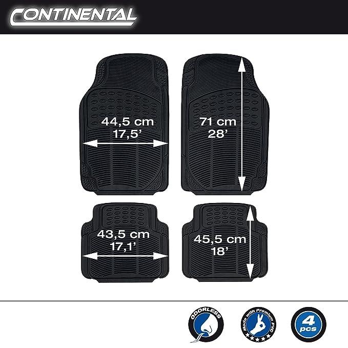 SUMEX Conti20 - Alfombra Goma Universal Continental Negra, 4 Piezas: Amazon.es: Coche y moto