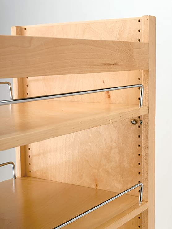Rev-A-Shelf 8 in W x 51 in H Wood Pantry Pullout Soft Close Natural