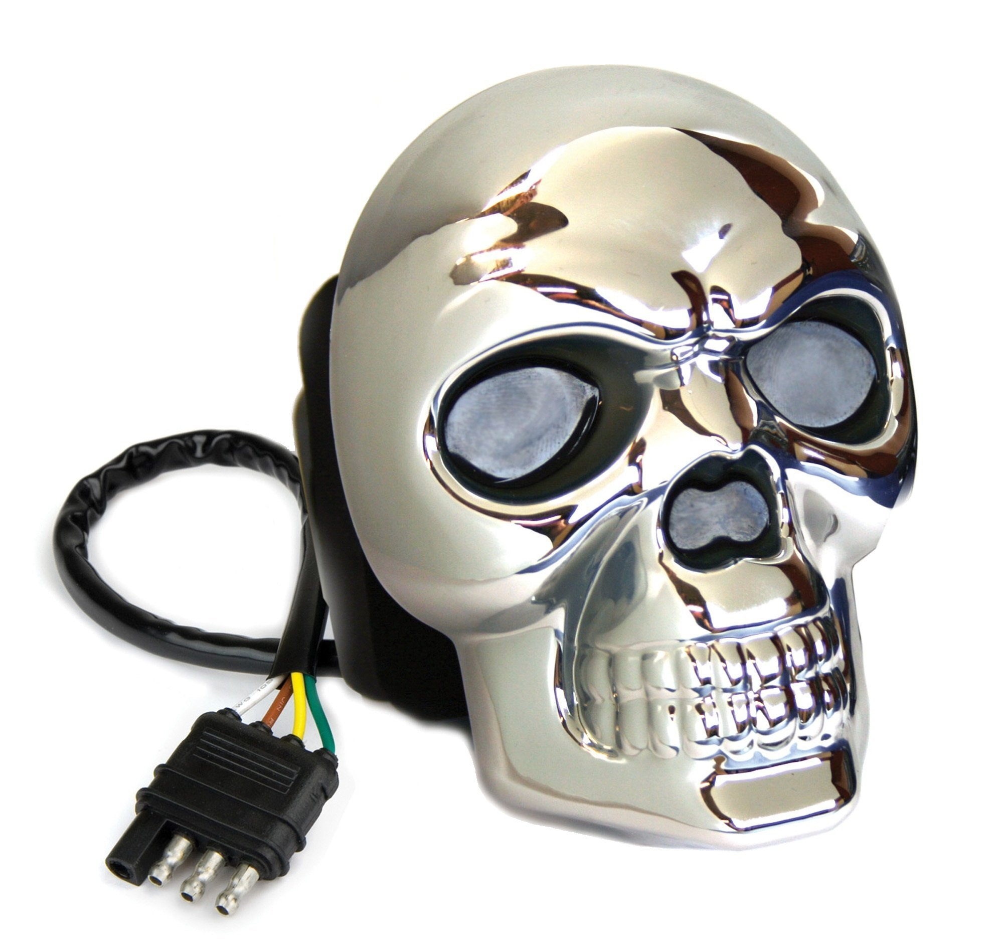 Reese Towpower 86523 Hitch Cover (Skull Lighted Chrome Finish)