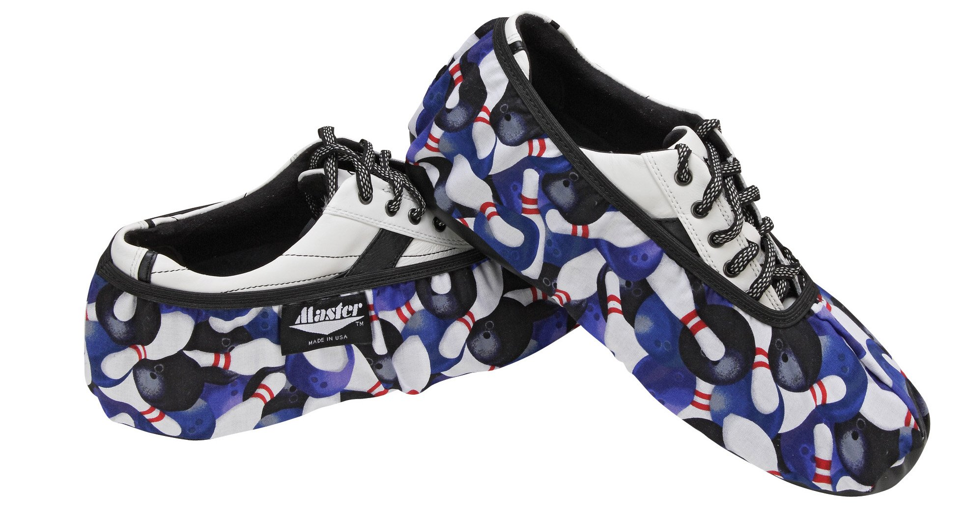 Master Industries Men's Bowling Shoe Cover, Pins, Large