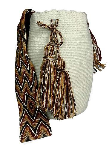 Amazon.com: Mochila Wayuu Real Étnico – Bolsa grande 100 ...