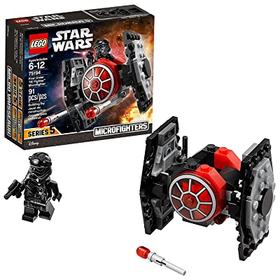 LEGO Star Wars: The Force Awakens First Order TIE Fighter Microfighter 75194 Building Kit (91 Piece): Toys & Games
