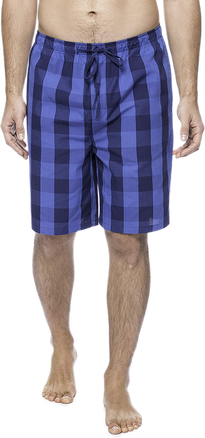 Twin Boat Men's 100% Woven Cotton Lounge Shorts