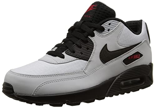 huge discount bd9da 285ae Nike Air Max 90 Essential, Scarpe Sportive, Uomo, Multicolore (Wolf  Grey Black-Blk-Unvrsty Rd), 44.5  Amazon.it  Scarpe e borse