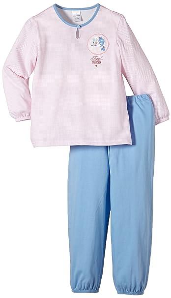 Schiesser Pijama de dos piezas de manga larga para niña: Amazon.es: Ropa y accesorios