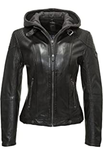 Superdry Lederjacke Damen RYLEE LEATHER BIKER Black