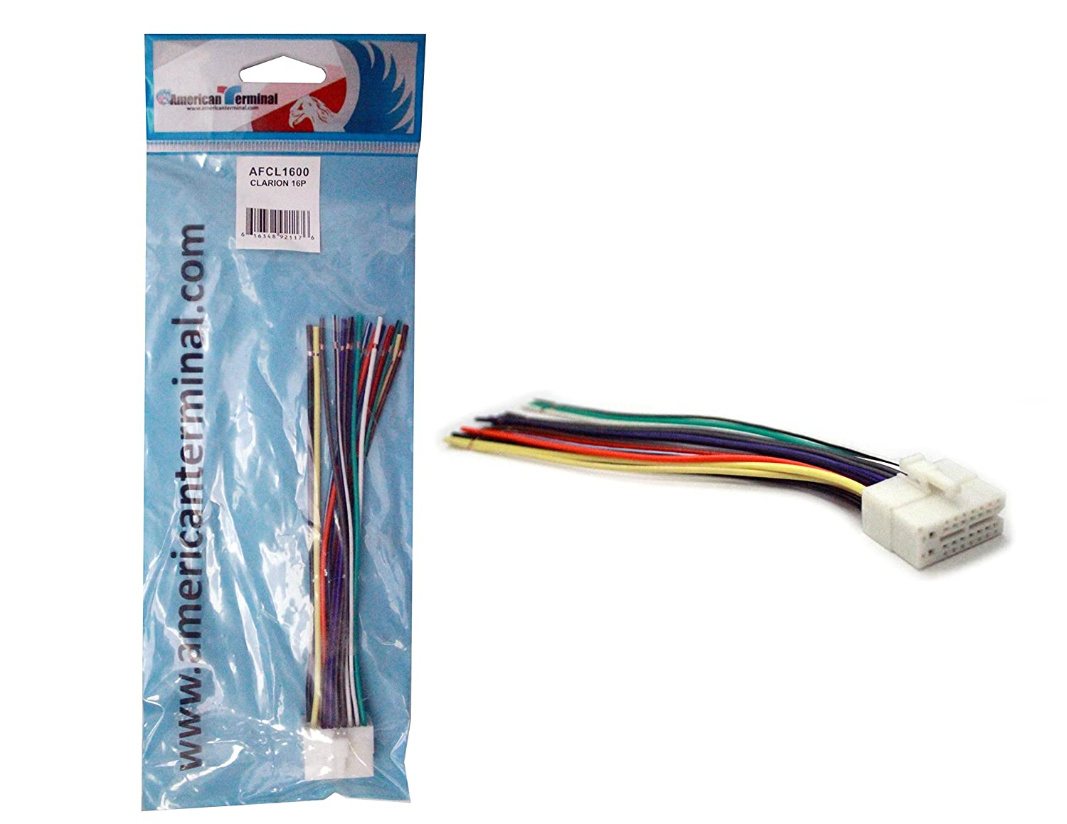 Clarion Cz309 Wiring Harness Free Download 16 Pin Amazon Com American Terminal Afcl1600 Universal Plug For Dxz735mp Code At