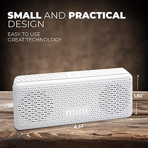 Small Bluetooth Speaker Wireless Portable Mini Stereo Black Pairable Speaker for Kids, Travel, Beach, Home, tv, Computer, iPhone, and Android Smart Phone White – by D.G GADGET