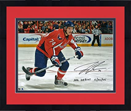 94c0e28fc00 Framed John Carlson Washington Capitals Autographed 16 quot  x 20 quot   Photograph with NHL Debut 11