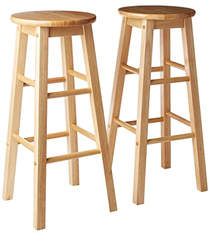 Tremendous Pj Wood 29 Inch Bar Stool Natural Caraccident5 Cool Chair Designs And Ideas Caraccident5Info