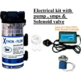 PSI Electrical Replacement Kit with 100 GPD RO Booster PUMP, SMPS & Solenoid Valve for RO/UV/UF Water Purifiers