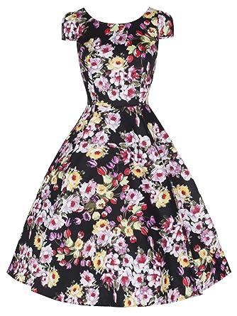 Love Camden Damen Schlag Kleid schwarz schwarz Einheitsgröße Gr. 10, schwarz