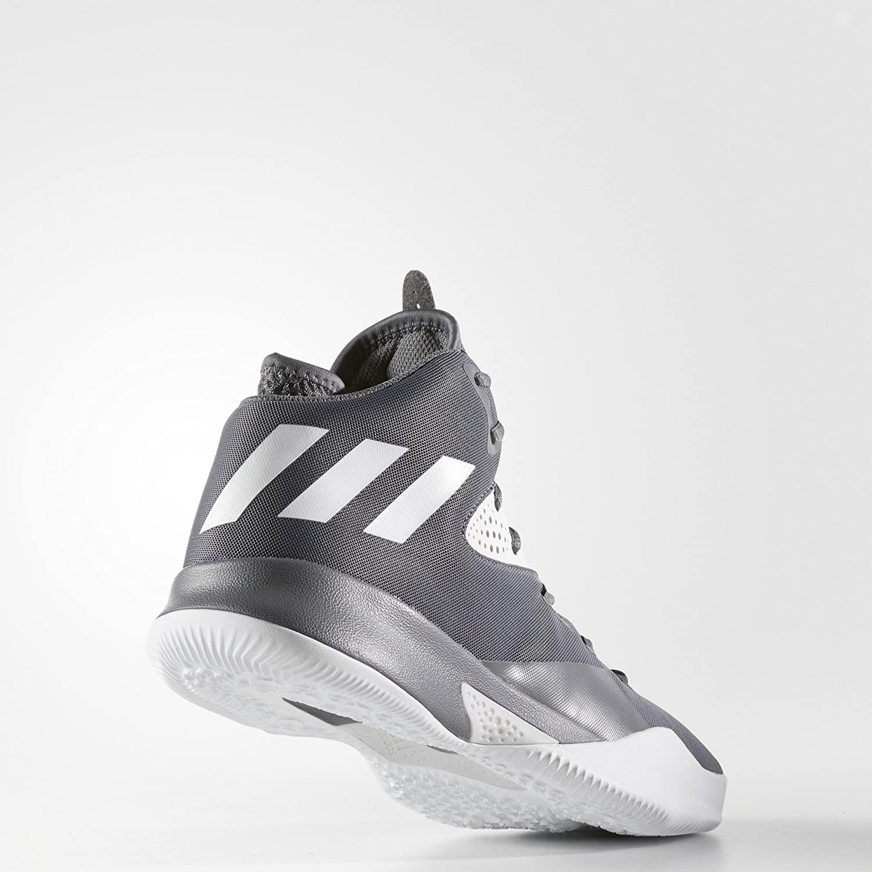 adidas Dual Threat 2017 Shoe - Men's Basketball Grey Four/Grey Three/Grey One