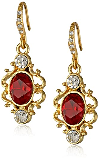 Downton Abbey Jeweled Heirlooms Carded Crystal Drop Earrings TpX6Oy