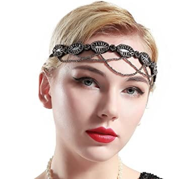 Amazon Com Babeyond 1920s Flapper Headband Crystal Beaded Great