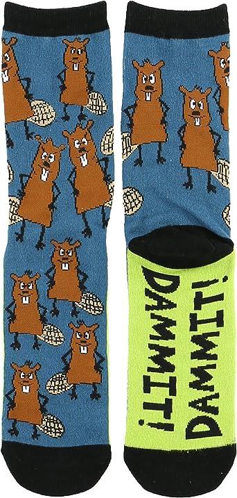 LazyOne Unisex Moose Hug Adult Crew Socks UK Size 5-11 EU 38-44//US 9-11