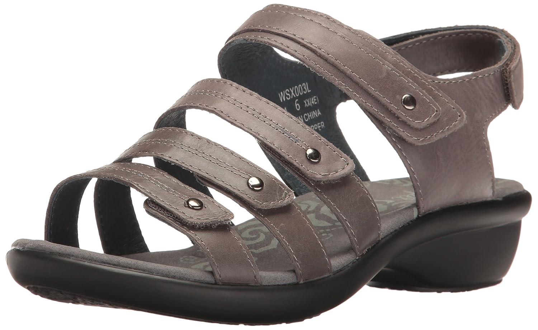 Propet Women's Aurora Wedge Sandal B01IOBDC4M 8.5 2A US|Grey