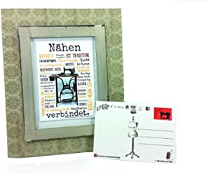 Nähen verbindet Postkarte 2 Stück A6 Druck Nähmaschine AnneSvea Sewing Handmade Deko