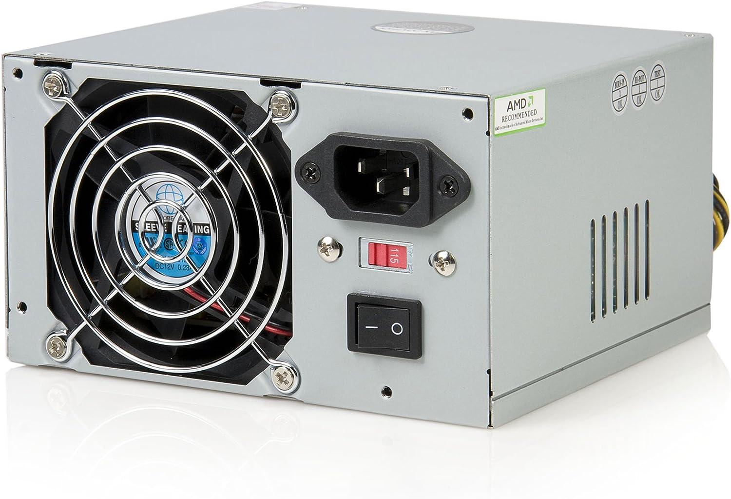 StarTech.com 350 Watt ATX12V 2.01 Computer PC Power Supply w/ 20 & 24 Pin Connector (ATX2POWER350)