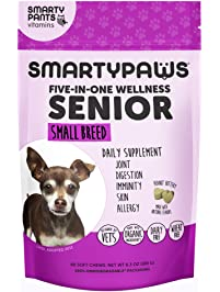 SmartyPaws Multifunctional Dog Supplement Chew: Fish Oil Omega 3 for Skin & Coat, MSM for Joint Support, Digestive...