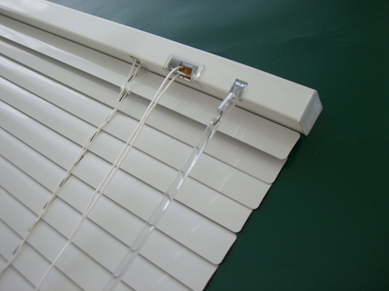 Alu Jalousie Weiß Weiß Weiß - Breite 40 bis 240 cm - Höhe 130   160   220 cm - Tür Fenster Rollo Jalousette Aluminium Fensterjalousie Lamellen Metall (180 x 220 cm) B014J9X1A8 Jalousien e264cf
