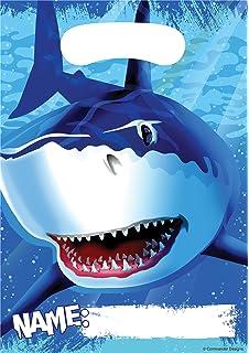 Amazon 8 count party invitations shark splash birthday 8 count party loot bags shark splash filmwisefo