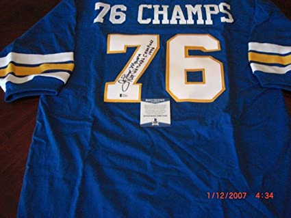 998ad1152 Image Unavailable. Image not available for. Color  Johnny Majors Signed  Jersey - Pittsburgh Panthers 1976 National Champs ...