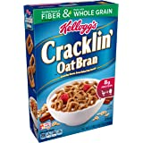 Kellogg's Breakfast Cereal, Cracklin' Oat Bran, Excellent Source of Fiber, Made with Whole Grain, 17 oz Box