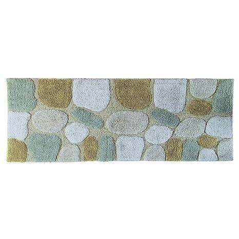 Chesapeake Merchandising Pebbles Cotton 24 In X 60 In Bath Runner, Spa