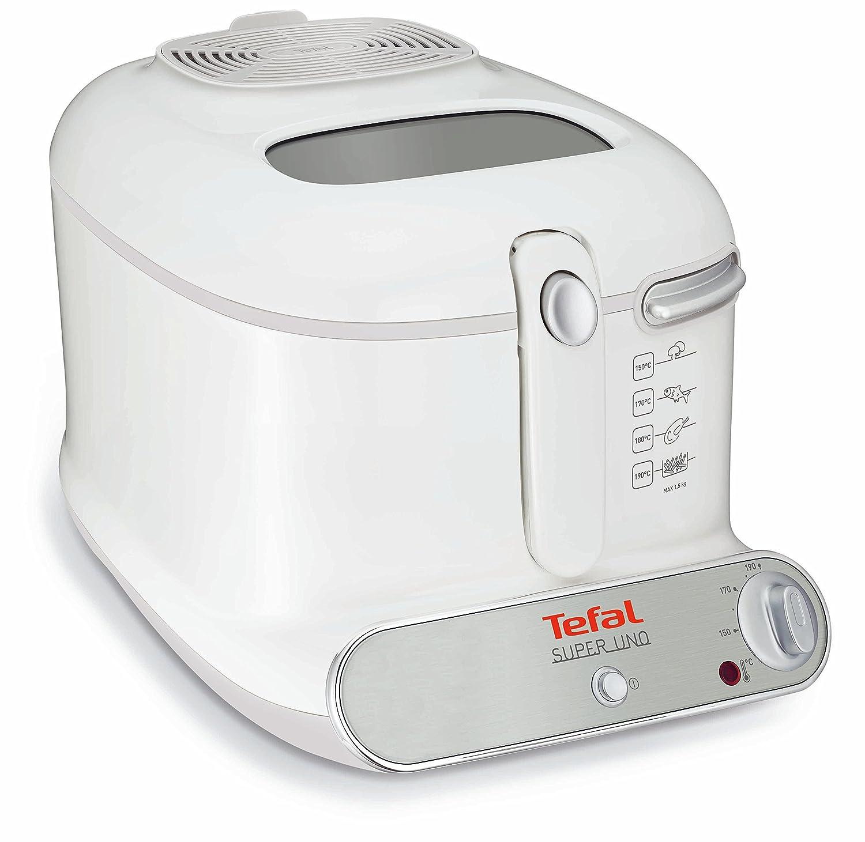 Tefal Super Uno FR3001 Solo 2.2L 1800W Color blanco - Freidora (2,2 L, 1,5 kg, Solo, Color blanco, 1800 W): Amazon.es: Hogar