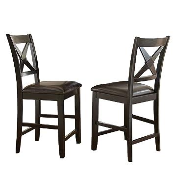 Merveilleux Steve Silver Company Violante Counter Chairs (Set Of 2), 19u0026quot; X 22u0026quot