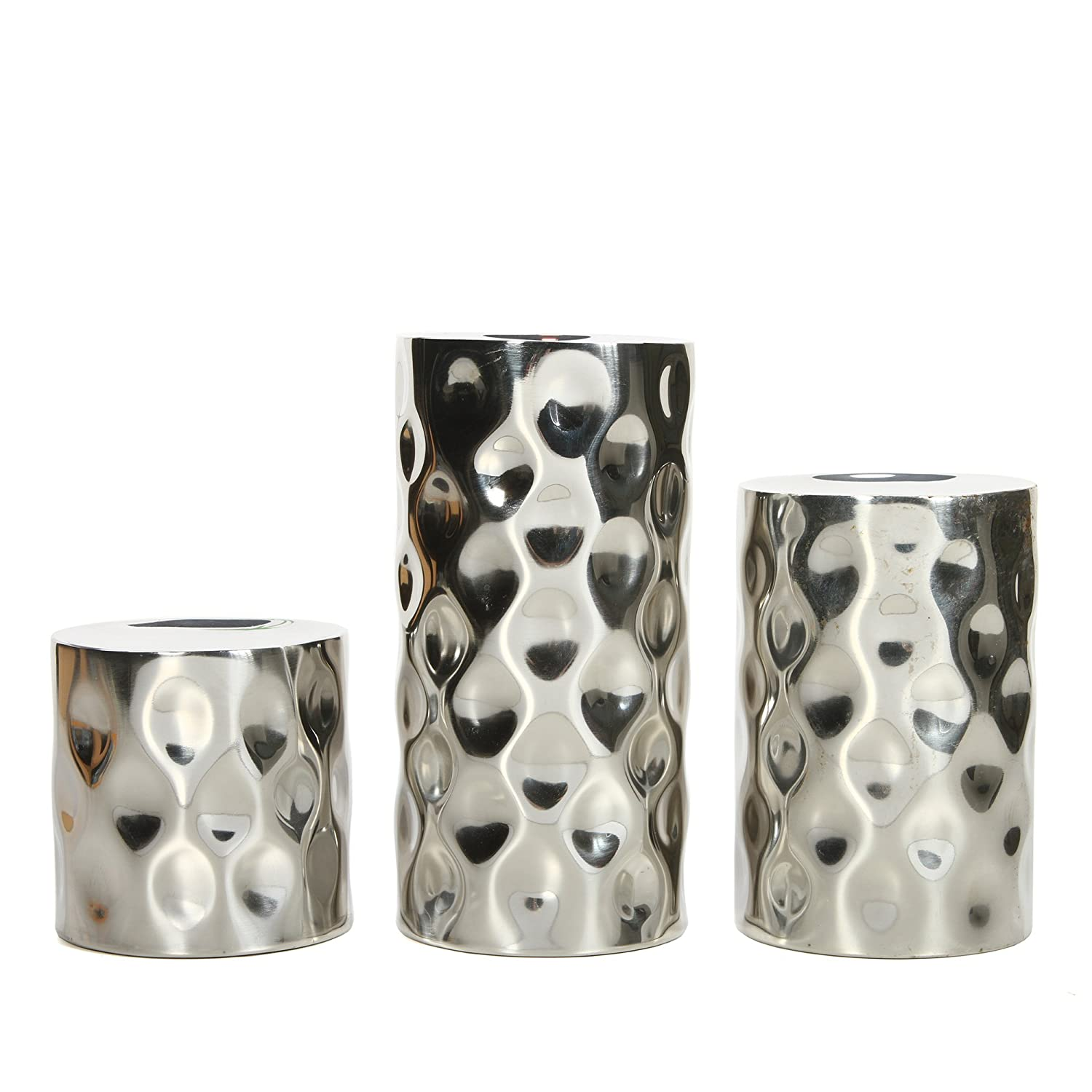 Hosley Nickle Pillar Candle Holders. Nickle Ideal GIFT DECOR Wedding, Party, Home, SPA, Aromatherapy, Reiki, Votive, Tea Light, Candle garden Vase/Floral HG Global FBA-G86780ON-1-EA