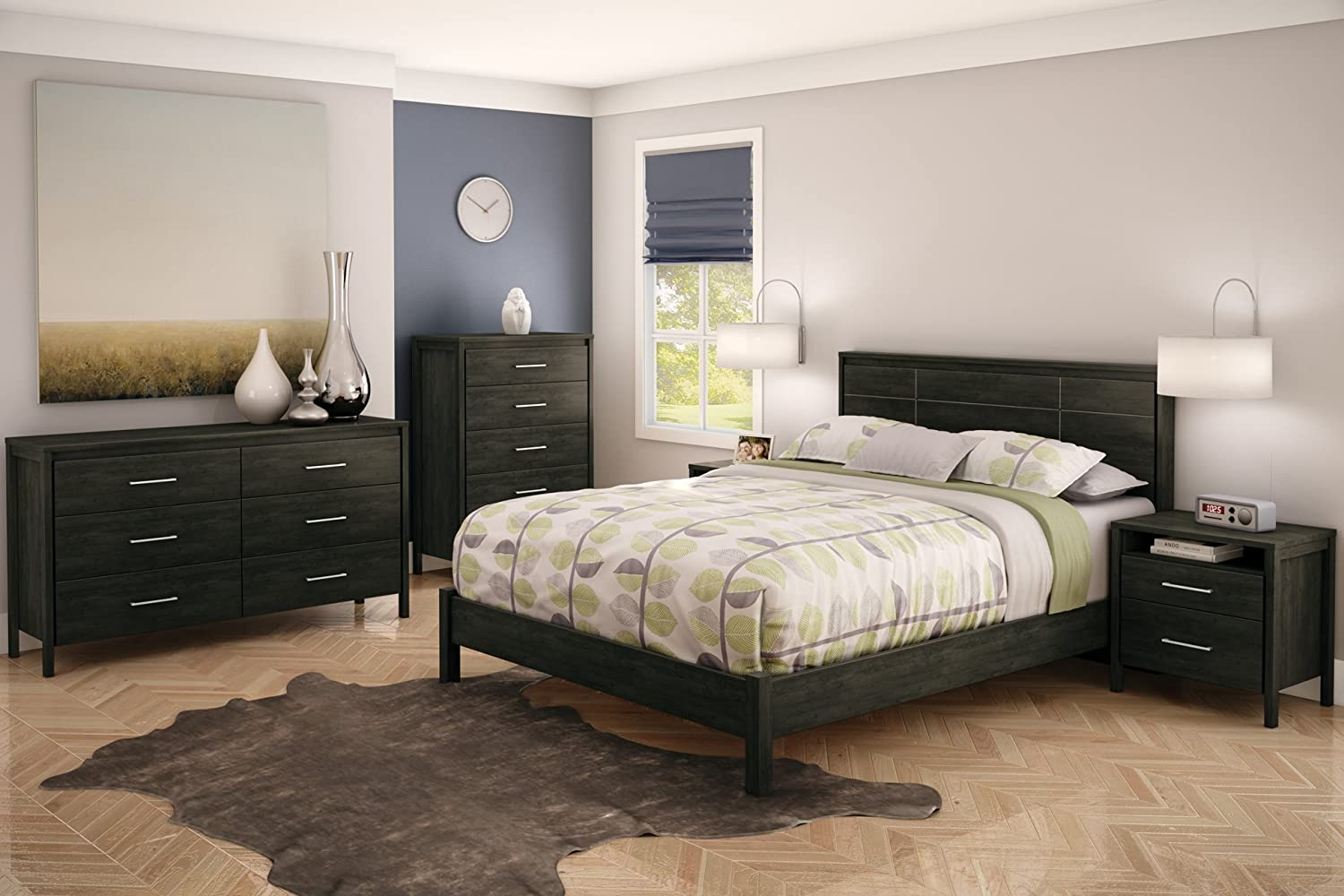 South Shore Bedroom Furniture Amazoncom South Shore Gravity Collection Dresser Ebony Kitchen