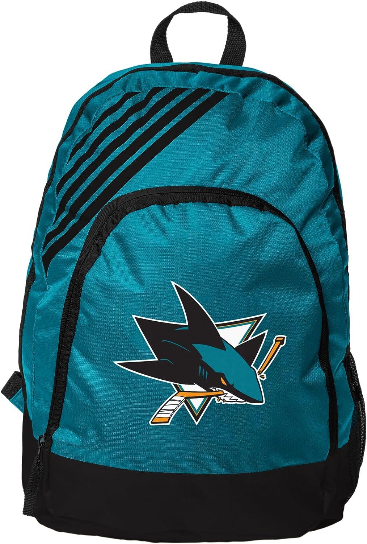 NHL San Jose sharksborderストライプバックパック、San Jose Sharks、1サイズ